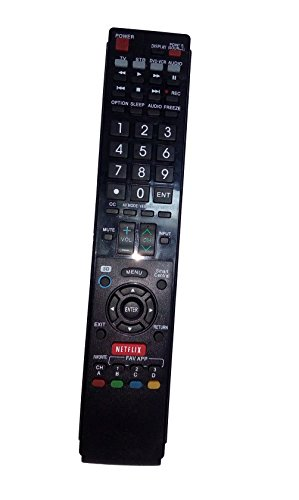 Replaced Remote Control Compatible for Sharp LC70C8470U LC70C6400U LC-60LE632UN LC-60LE820UN LC52LE835U LC-70LE632U AQUOS LED LCD HD TV with NETFLIX 3D Button