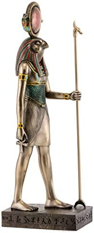 Top Collection Egyptian Horus Statue- God of The Sky Sculpture in Premium Cold Cast Bronze- 15.5-Inch Collectible Ancient Egypt Figurine
