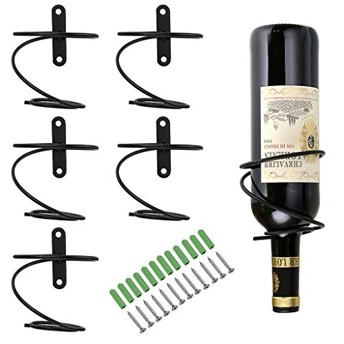 - Hipiwe Pack of 6 Wall Mounted Wine Racks - Red Wine Bottle Display Holder with Screws, Metal Hanging Wine Rack Organizer