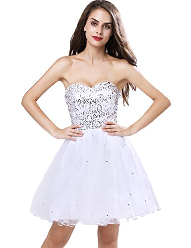 Belle Ballo Manica Junior Tulle Abiti Da Con Homecoming white Abiti Casa Corti Sd032 Di xwIYSPSq
