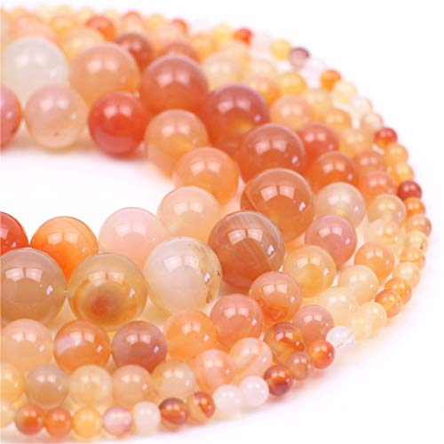 (Oameusa 6mm Natural Agate Beads Round Smooth Beads DIY Materials Bracelet Necklace Earrings Making Jewelry Agate Beads for Jewelry Making 15