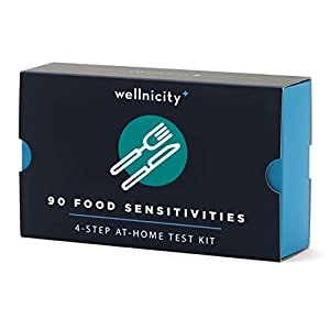 Gut Health Shop 41TloLkeWnL._SS300_ Wellnicity at-Home Food Sensitivities Test Kits, Measures 90 Foods