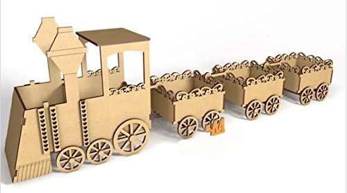 Kit para hacer tren de madera DM para candy bar mesa dulce ...