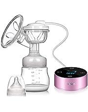 Sacaleches Eléctrico, Extractor de leche eléctrico materna Pantalla táctil portátil recargable Smart LCD con 3 modos 9 niveles de succión de leche materna, masaje de mama