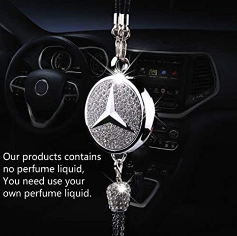 Mercedes Benz Accessories >> Patricon Exquisite Car Logo Diamond Pendant Ornaments For Mercedes Benz Accessories Car Perfume Hanging Air Refreshing Charm Decoration