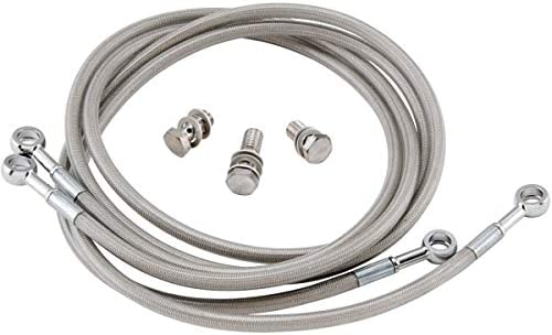 "Streamline ATV Universal Braided Brake Line Kits 18/"" Clear Rear UNIV-R-18"
