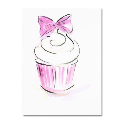 Cupcake 3 by Jennifer Lilya, 35x47-Inch Canvas Wall Art
