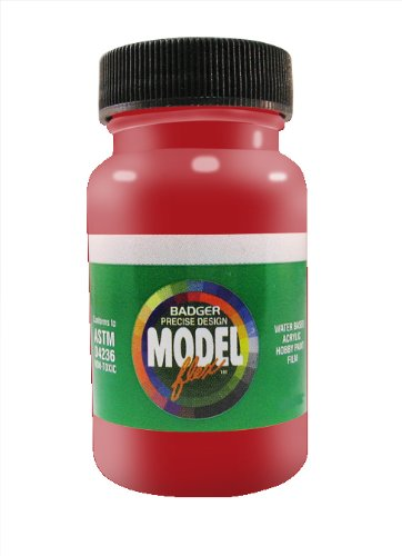 Badger Air-Brush Co. 2-Ounce Modelflex Railroad Airbrush Ready Water Based Acrylic Paint, Caboose Red