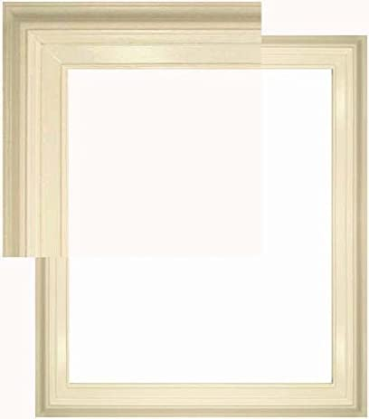 natural wood frame 20 x 24 open back pure white melissa style - Natural Wood Picture Frames