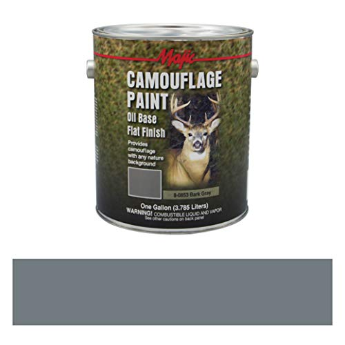 Majic Paints 8-0853-1 Camouflage Paint, 1-Gallon, Bark Gray (Best Duck Boat Paint)