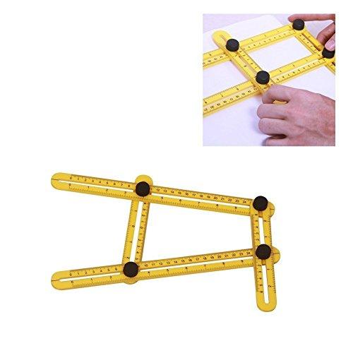 Hense Creative Multi-Angle Foldable Measuring Ruler, General Analyzer Template Tool Ruler for Handymen, Builders, Craftsmen,Technician(HSJ-03)