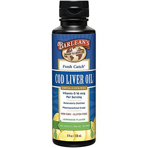 (Barlean's Organic Oils Fresh Catch Cod Liver Oil, Lemonade Flavor, 8-Ounce Bottle)