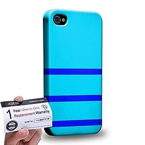 Case88 [Apple iPhone 4 / 4s] 3D impresa Carcasa/Funda dura para & Tarjeta de garantía - Art Design Cyan Bumblebee