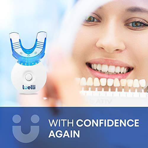 LUELLI Teeth Whitening Kit - 5X LED Light Tooth Whitener, 12ml with mild