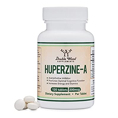 Huperzine A 200mcg (Third Party Tested) Made in The USA, 120 Tablets by Double Wood Supplements (L-Huperzine A)