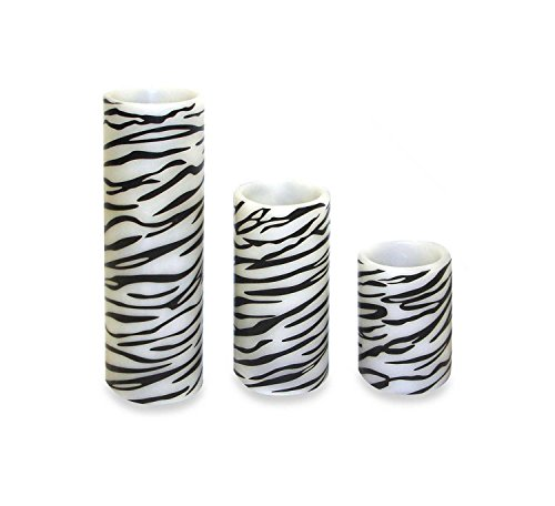 Zebra Wax Candle - 1