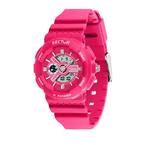 SECTOR Women's 'Ex-15' Quartz Resin and Plastic Sport Watch, Color:Pink (Model: R3251515502