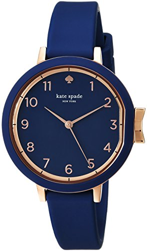 kate spade new york Women's 'Park Row Silicone' Quartz Stainless Steel Casual Watch, Color:Blue (Model: KSW1353)