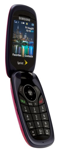 amazon com samsung m510 pink phone sprint cell phones accessories rh amazon com