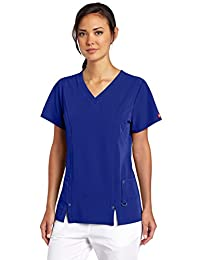 Dickies Scrubs Women's Xtreme Stretch Junior Fit V-Neck Shirt