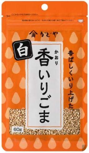 かどや製油 香いりごま 白 60g×10袋入×(2ケース)