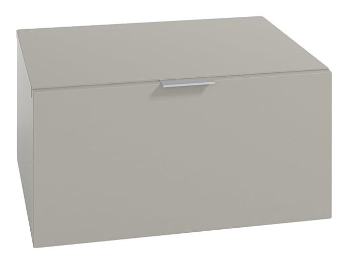 LOWE Muebles Uno Módulo cajones combinable, Madera, Gris, 45 x 47 x 30 cm