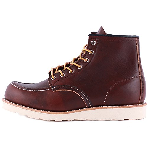 Red Wing Moc Toe 08138-1 Mens Laced Leather Boots Brown - 8