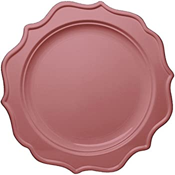 Posh Setting Festive Collection Medium Weight Plastic Pink Colored 8 inch Party Plates (12 Pack  sc 1 st  Amazon.com & Amazon.com: Posh Setting Festive Collection Medium Weight Plastic ...
