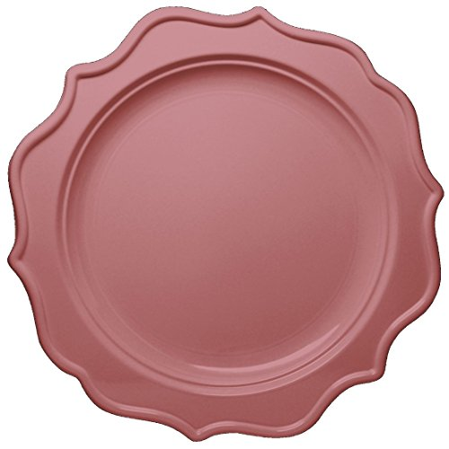 Posh Setting Festive Collection Medium Weight Plastic Pink Colored 10 inch Party Plates (12 (Pink Coloured Plate)