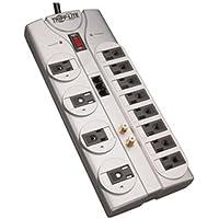 Tripp Lite - 12 Outlets, Tel/DSL, Coax, 8ft - TLP1208TELTV