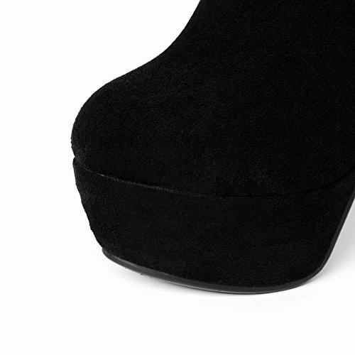 De Bottines Pour Lacet Plateforme Talons Uh Cheville Noir L'hiver Aiguilles Haute Avec 12 À Femmes Cm Et Elegantes SwnYqpU