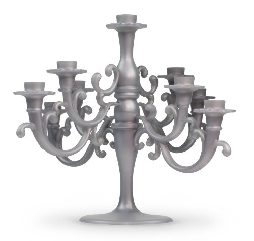 Fred CAKE CANDELABRA Cake Topper with Candles (Candleabra Silver)