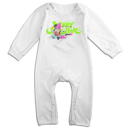 [VanillaBubble Mickey Mouse And Christmas For 6-24 Months Toddler Cool Romper White Size 6 M] (Baby Megamind Costume)
