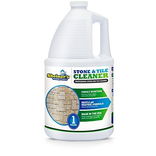 Sheiner's Tile and Granite Cleaner, Heavy Duty Stone Floor and Grout Cleaner for Marble, Polished Concrete, and Travertine Surfaces, 1 Gallon
