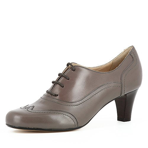 Taupe Damen Pumps Evita GIUSY Shoes Glattleder EqUHXn