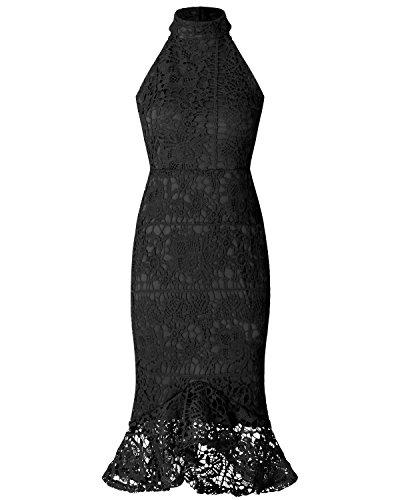 Minetom Damen Mini Kleider Ohne Arm Bodycon Meerjungfrau Abendkleid ...