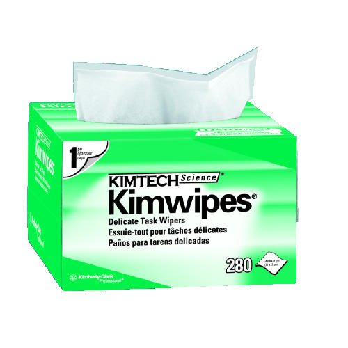 Kimberly-Clark Kimtech Kimwipes EX-L Wipes, 4-1/2