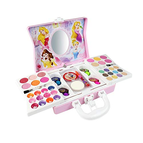 Per Newly 53 Pcs Dressing Up Vanity Cases Pretend Play Cosmetic Makeup Washable Real Girl Makeup Toy Set Fashion Kit for Little Girls & Kids