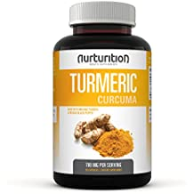 Nurturition Turmeric Curcumin capsule Supplements - Pills Made with Organic ingredients - tumeric powder filled capsules - Made in USA - Black Pepper for Better Absorption. Non-GMO - Supplement (120)