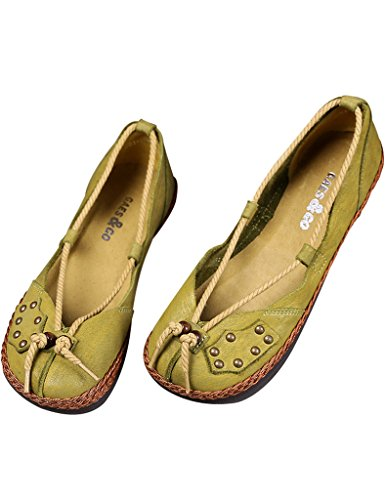 Printemps Flat slip on Été Youlee Chaussures Cuir Femmes vPwZAPqE