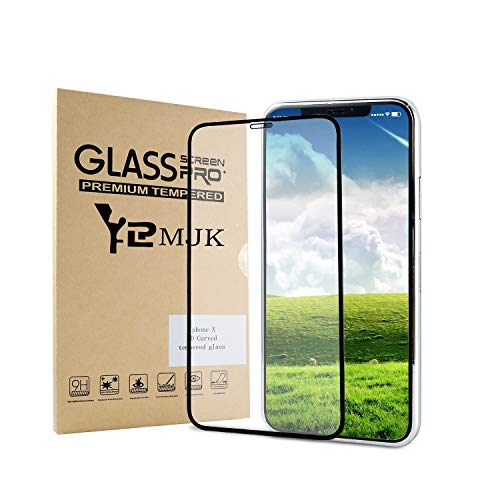 YRMJK iPhone X Screen Protector,3D Touch Full Coverage Titanium Metal Edge More Fashion [ Tempered Glass x 1 ] [ Edge to Edge Protection ](2018) by YRMJK