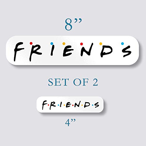 Set of 2 Friends Sticker Best Vinyl Decal 8