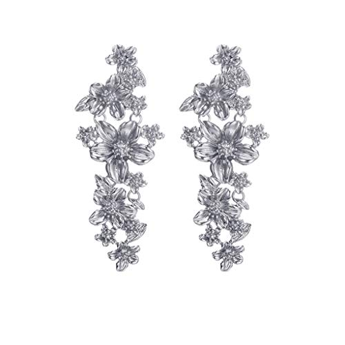 Bohemian Earrings,Lmtime Jasmine Flowers Long Earrings Fashion Drop Earrings Elegant Bridal Jewelry for -