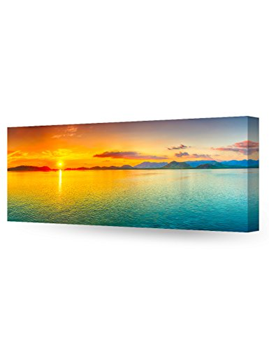 DecorArts Canvas Sunrise sea Giclee Decor 30x12x1 5
