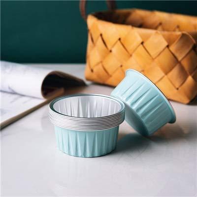 125 Ml Tin - Foil Pans Bakerdream 10pcs Disposable Aluminum Foil Mini Pie Muffin Cupcake Pans Egg Tart Bakeware Baking Cups bakeware Baking Tin 125ml(Blue)