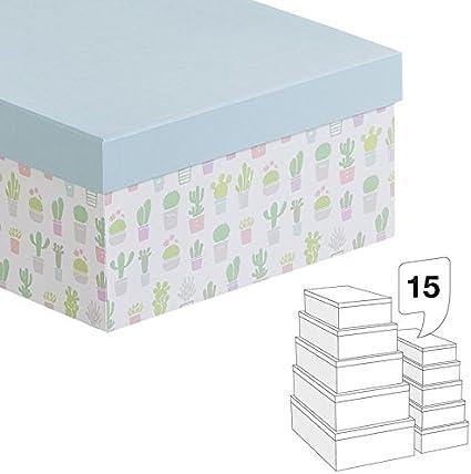 Home Line Caja Carton Juego 15 Unidades 21311142DC: Amazon.es: Hogar