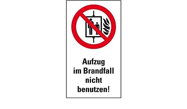 LEMAX prohibición-Kombi ascensor en caso de incendio usar ...
