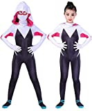 RELILOLI Gwen Stacy Costume Kids (Kids-L-Height(47'-51')) Black and White