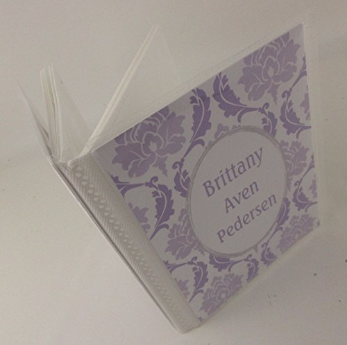 Personalized Photo Album . Purple Damask. 473 . 4x6 or 5x7 pictures, Wedding Album