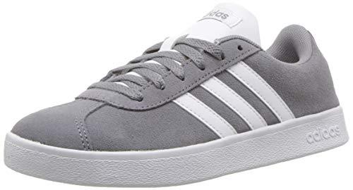 - adidas Kids' VL Court 2.0 Sneaker, Grey/White/Grey, 12.5K M US Little Kid